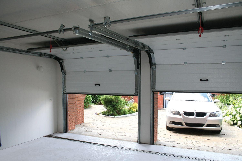 Секционные гаражные ворота установка