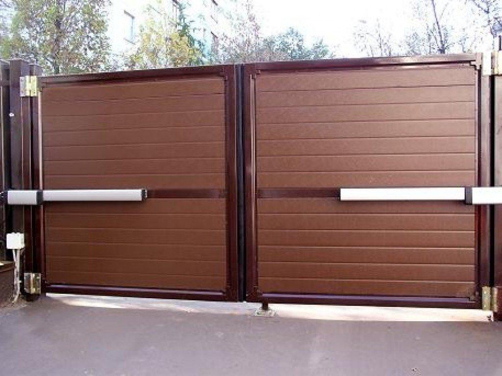 автоматические ворота двухстворчатые в гараж цена